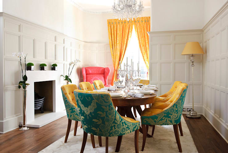 Montagu Square: classic Dining room by Rebecca James Studio