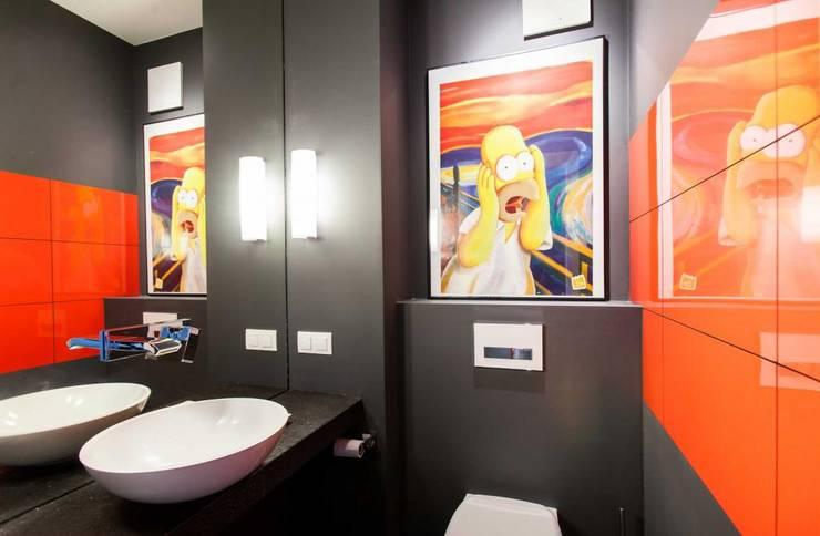 Realizacja 8: styl , w kategorii Łazienka zaprojektowany przez MGN Pracownia Architektoniczna,Nowoczesny