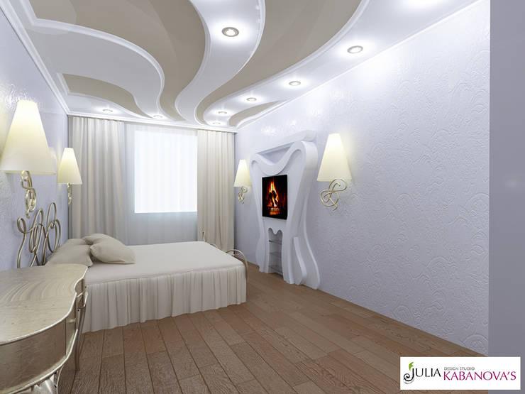Дизайн проект на ул.Таганской: Спальни в . Автор – JULIA KABANOVA's DESIGN STUDIO