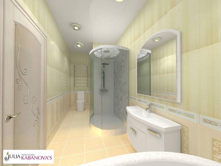 Дизайн проект на ул.Таганской: Ванные комнаты в . Автор – JULIA KABANOVA's DESIGN STUDIO