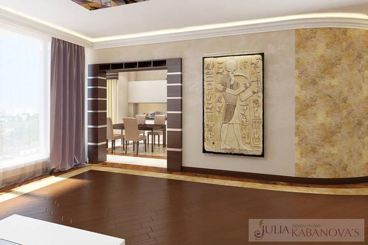 Дизайн проект на ул.Новый Арбат: Гостиная в . Автор – JULIA KABANOVA's DESIGN STUDIO