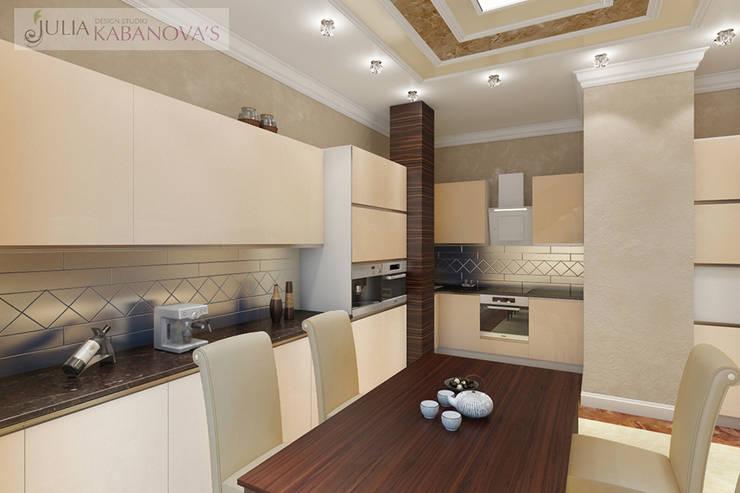 Дизайн проект на ул.Новый Арбат: Кухни в . Автор – JULIA KABANOVA's DESIGN STUDIO