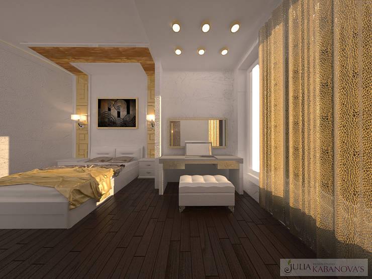 Дизайн проект на ул.Новый Арбат: Спальни в . Автор – JULIA KABANOVA's DESIGN STUDIO