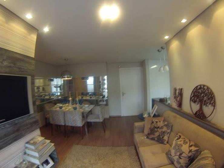 Living room by Débora Campos Arquiteta, Modern