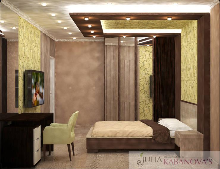 дизайн проект на Коломенской набережной: Спальни в . Автор – JULIA KABANOVA's DESIGN STUDIO,