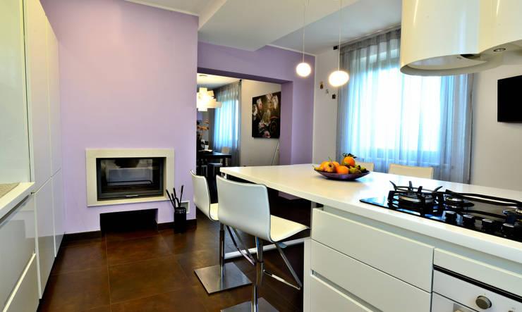 house e_f: Cucina in stile  di Federico Pisani Architetto