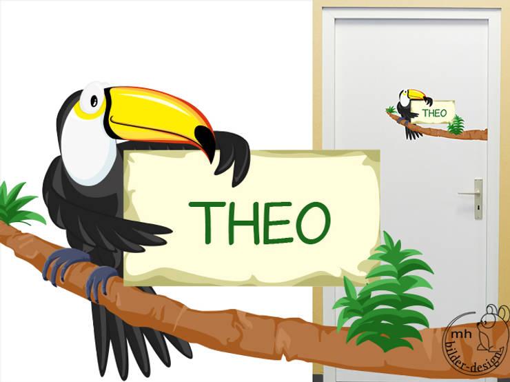 Theo Antworten Aus Dem Kinderzimmer | Turschilder Tiere Furs Kinderzimmer Von Mhbilder Design Homify