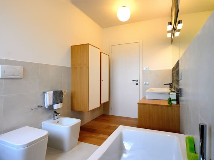 Projekty,  Łazienka zaprojektowane przez Federico Pisani Architetto
