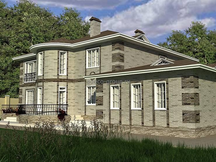 Вид на дом со свора: Дома в . Автор – Проектное бюро 'АДЕКО', г. Казань