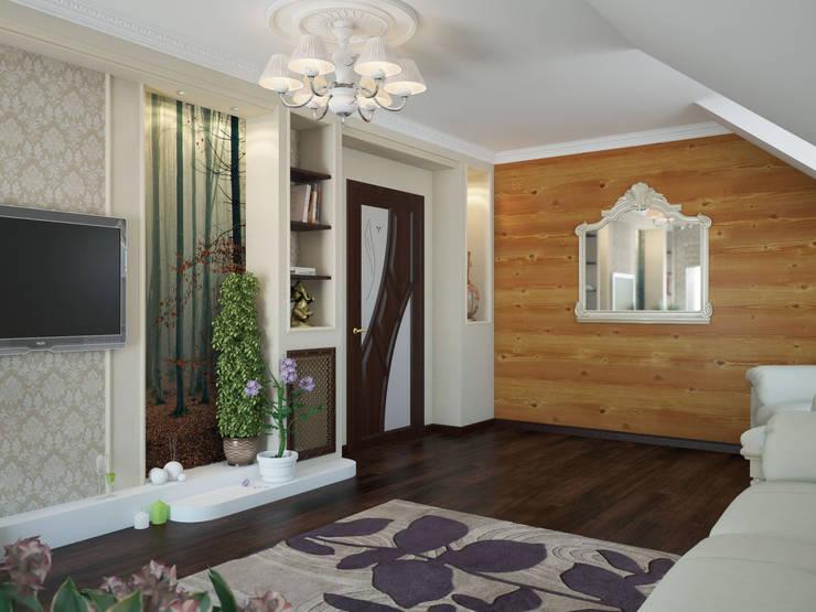 Дизайн проект дома - 2 этаж - 106,9 м2: Медиа комнаты в . Автор – Artstyle