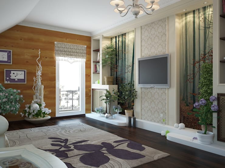 Дизайн проект дома – 2 этаж – 106,9 м2: Медиа комнаты в . Автор – Artstyle
