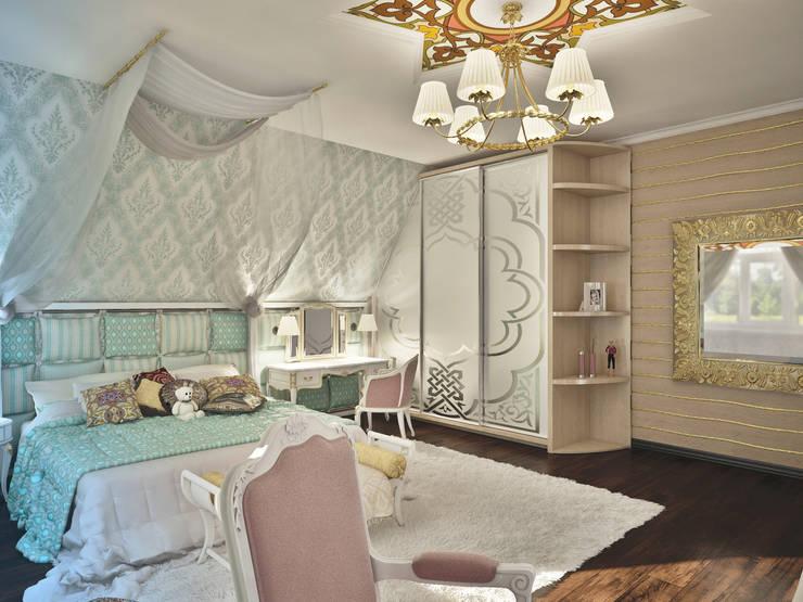Дизайн проект дома – 2 этаж – 106,9 м2: Детские комнаты в . Автор – Artstyle,