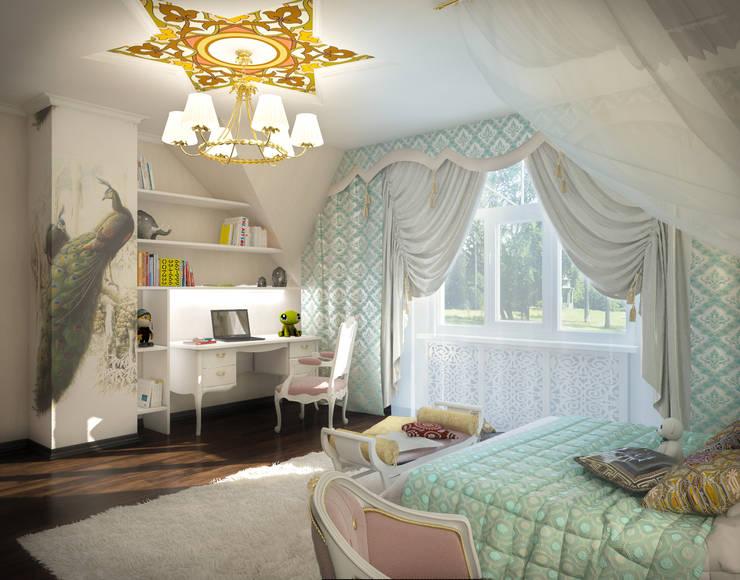 Дизайн проект дома – 2 этаж – 106,9 м2: Детские комнаты в . Автор – Artstyle