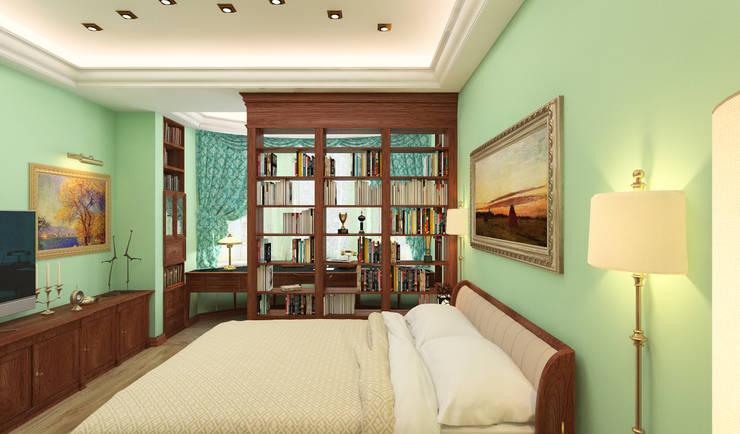 спальня + рабочий кабинет: Спальни в . Автор – DEMARKA