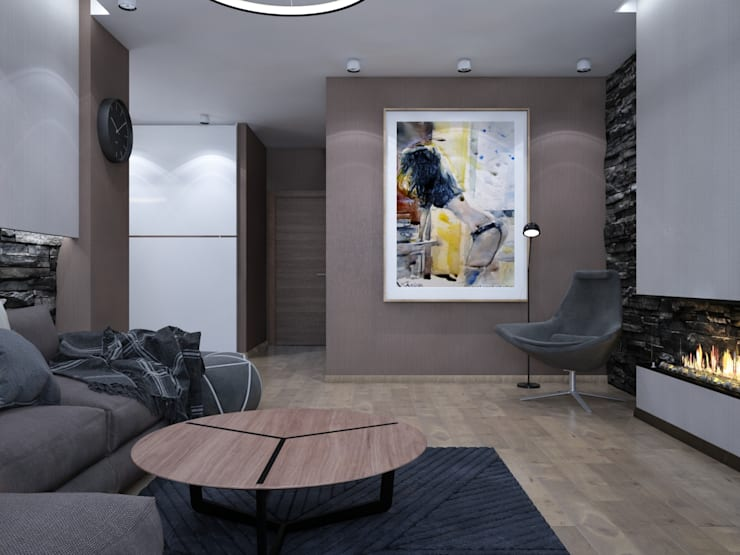 уютный минимализм: Гостиная в . Автор – Pavel Alekseev