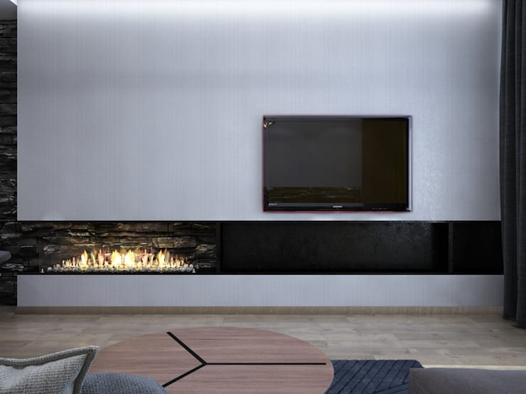 уютный минимализм: Гостиная в . Автор – Pavel Alekseev,