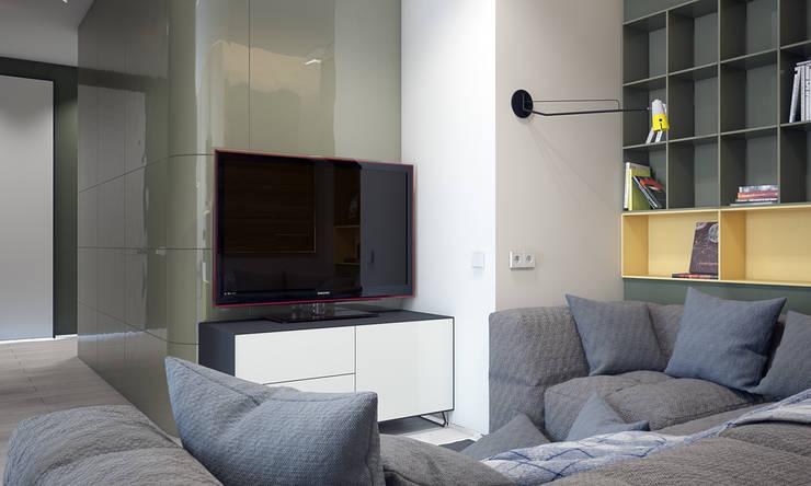 Квартира для большой семьи : Гостиная в . Автор – Pavel Alekseev