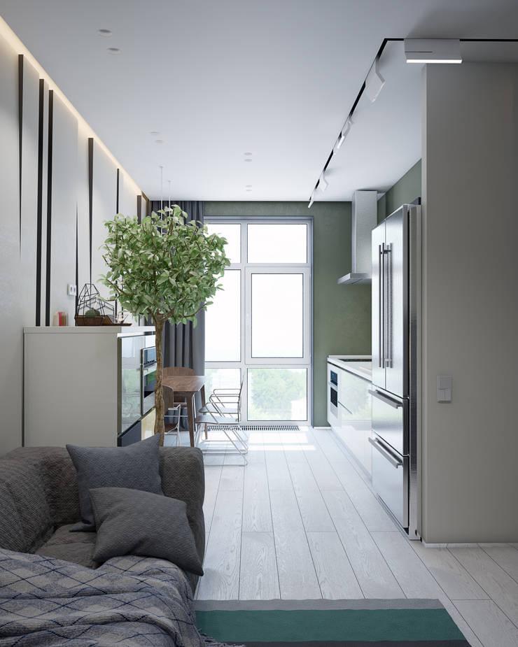 Квартира для большой семьи : Кухни в . Автор – Pavel Alekseev