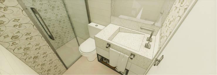 Apartamento São Caetano do Sul: Banheiros  por Studio Meraki Arquitetura e Design,