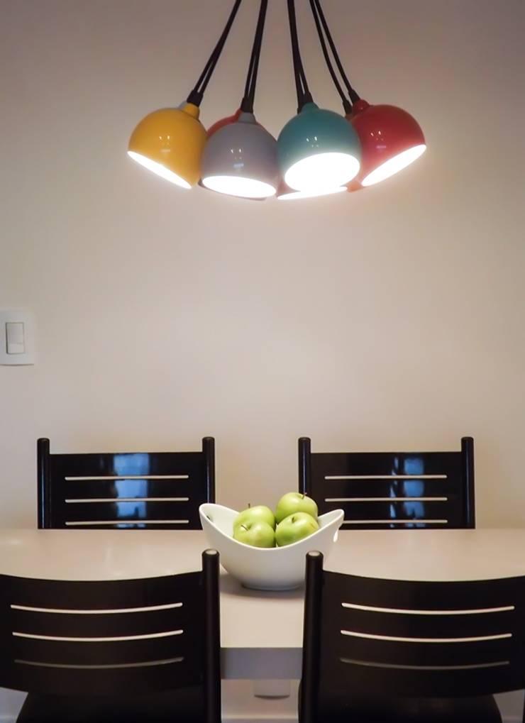 Apartamento São Caetano do Sul: Salas de jantar  por Studio Meraki Arquitetura e Design,
