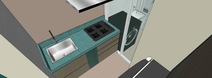 Apartamento Santo André: Cozinhas  por Studio Meraki Arquitetura e Design