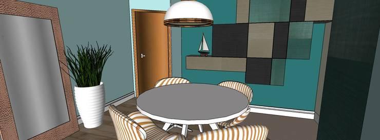 Apartamento Santo André: Salas de jantar  por Studio Meraki Arquitetura e Design