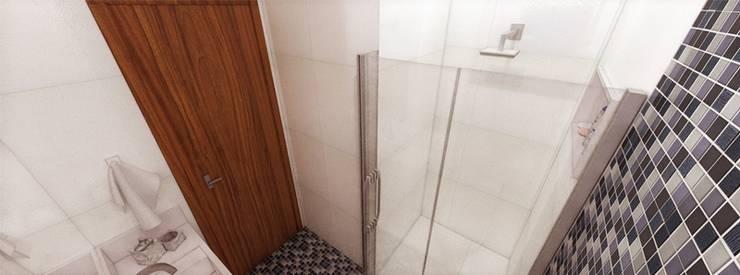 Apartamento Santo André: Banheiros  por Studio Meraki Arquitetura e Design