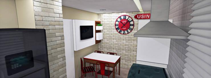 Apartamento Brooklin Paulista: Cozinhas  por Studio Meraki Arquitetura e Design