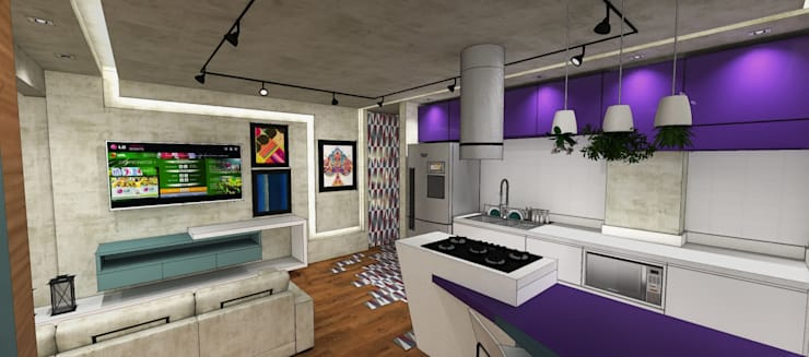 Apartamento São Caetano do Sul: Cozinhas  por Studio Meraki Arquitetura e Design,