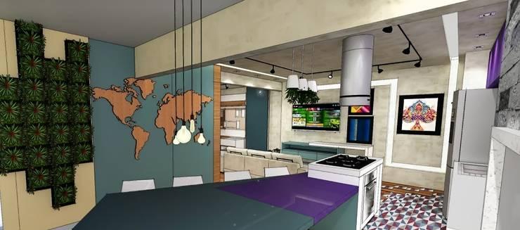 Apartamento São Caetano do Sul: Salas de estar  por Studio Meraki Arquitetura e Design,