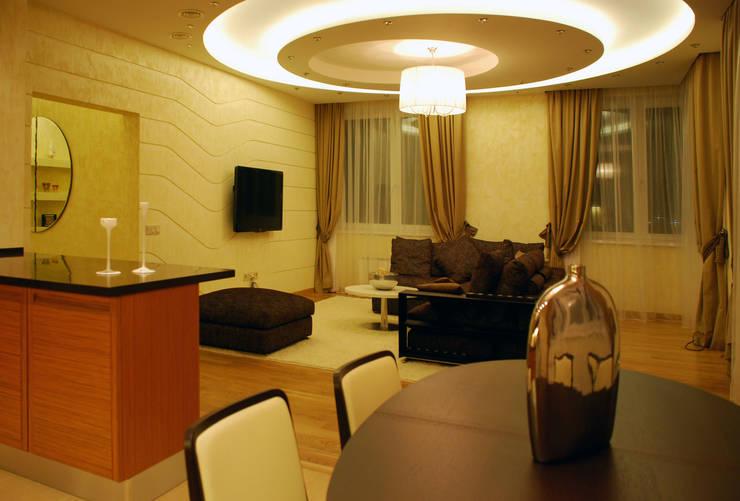 Квартира на Ружейном: Гостиная в . Автор – Дизайн-студия «ARTof3L»