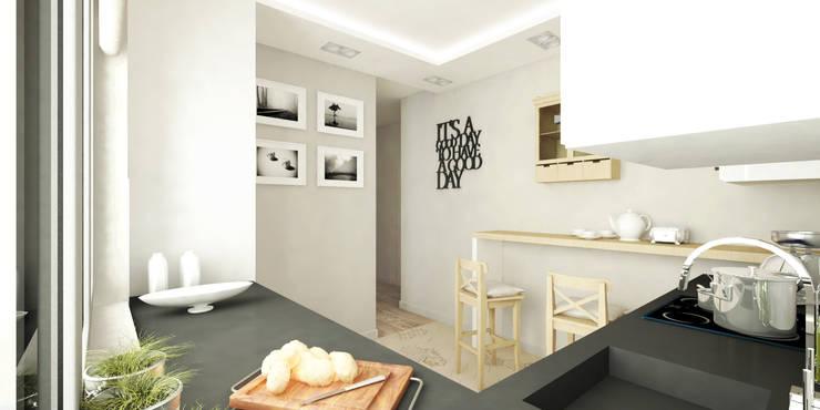 Cozinhas modernas por Pracownia Aranżacji Wnętrz 'O-Kreślarnia'