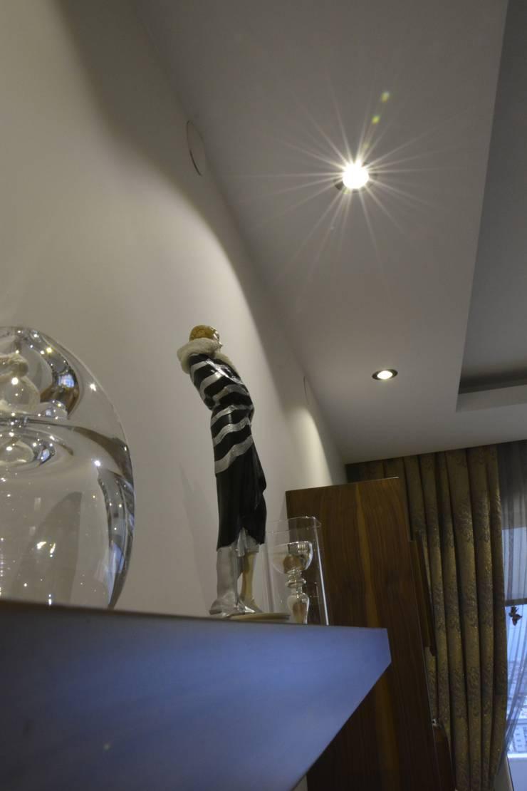 ACS Mimarlık – İzmir Mimkent'te Yeni Bir Yaşam Projesi:  tarz Oturma Odası, Modern
