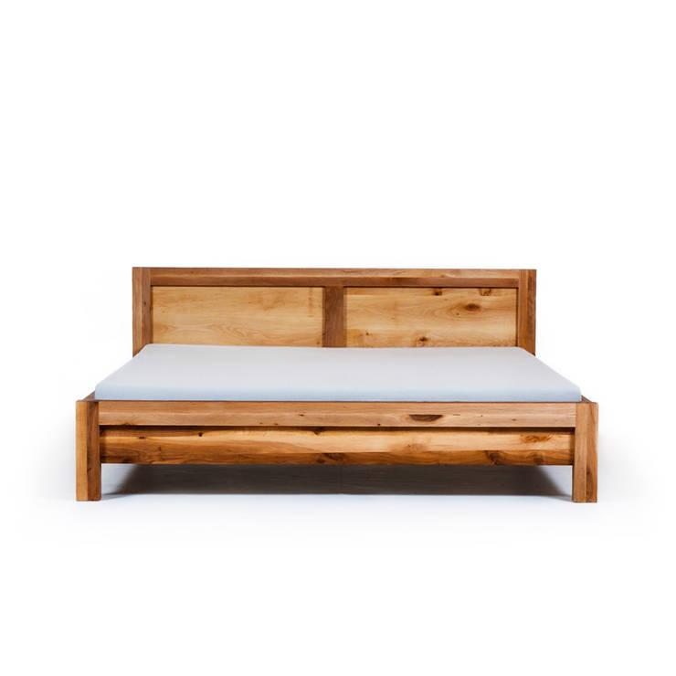 MAZZIVO bed BAUHAUS - solid alder wood: styl , w kategorii Sypialnia zaprojektowany przez mazzivo konzept + gestaltung przemysław mitręga
