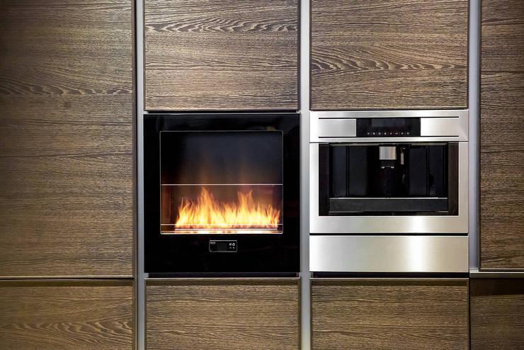 Chili Fire, Good Mood Showroom- Warsaw: styl , w kategorii Kuchnia zaprojektowany przez Planika Fires,