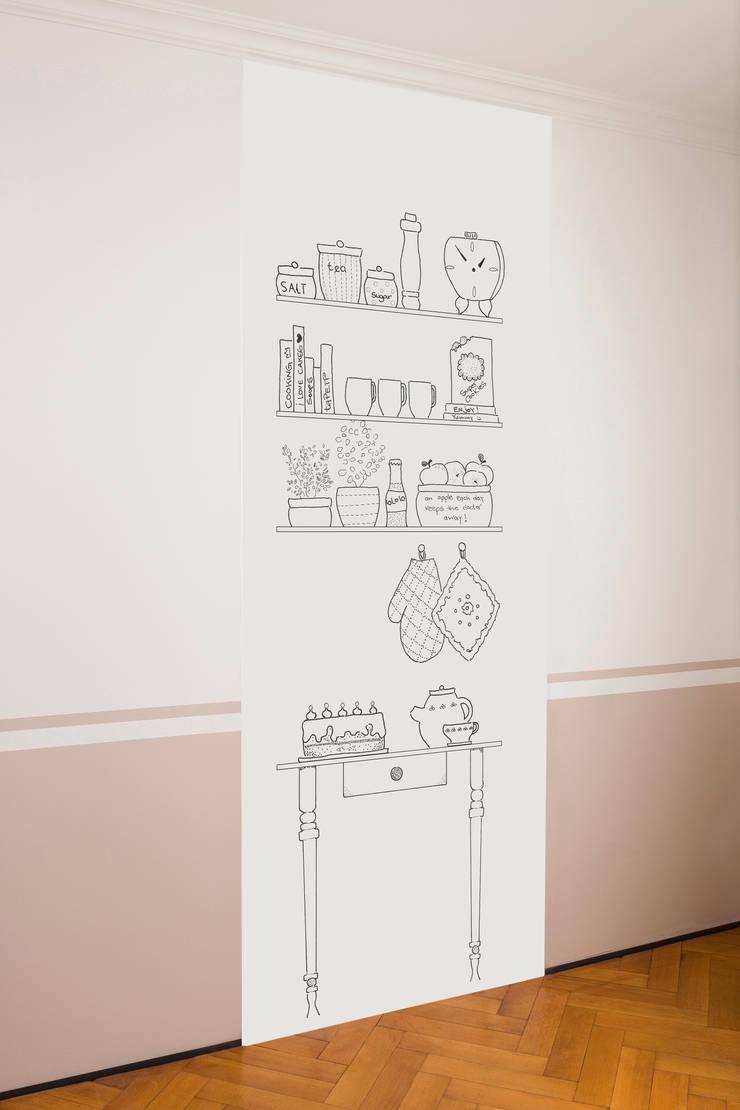 Küche schwarz-weiß:   von taPETI,Ausgefallen Papier