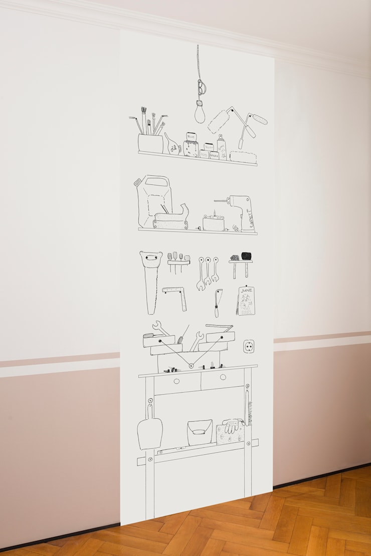 Werkstatt schwarz-weiß:   von taPETI,Ausgefallen Papier