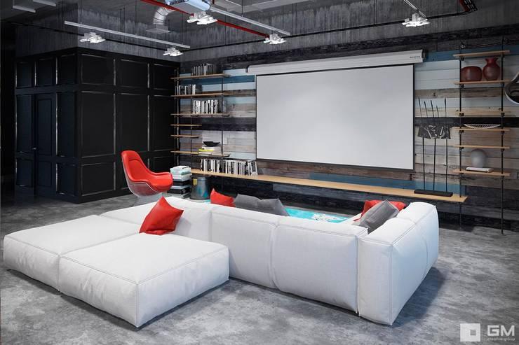 Интерьер квартиры в стиле лофт: Гостиная в . Автор – GM-interior