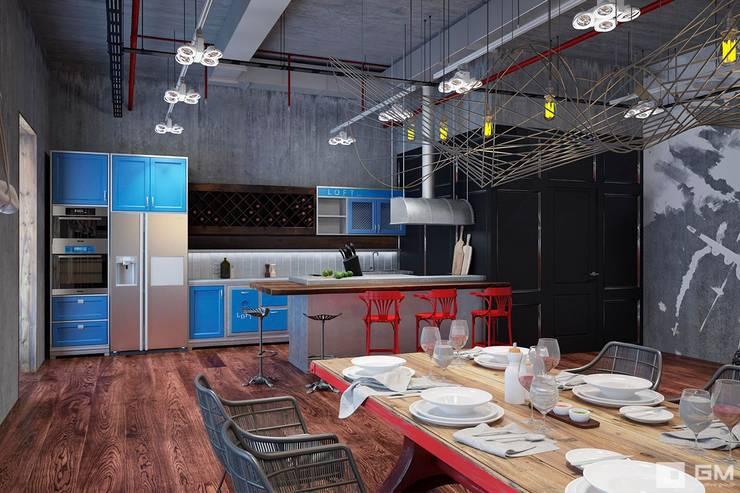 industrial Kitchen by GM-interior