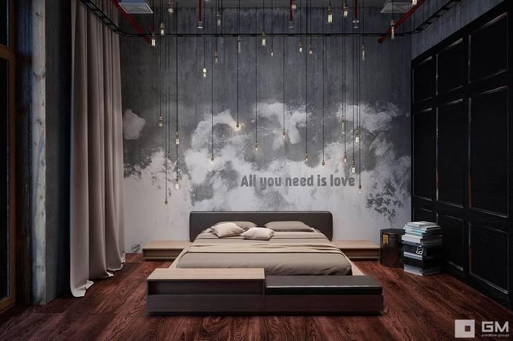 Интерьер квартиры в стиле лофт: Спальни в . Автор – GM-interior