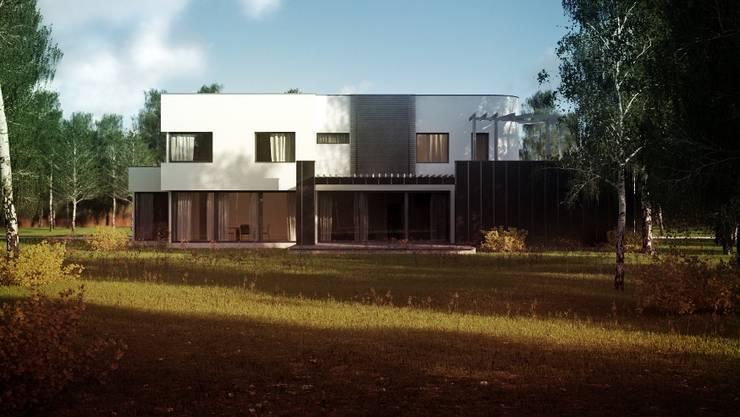 Projekty domów - House x01: styl , w kategorii Domy zaprojektowany przez Majchrzak Pracownia Projektowa