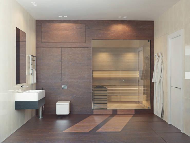 Японский минимализм: Ванные комнаты в . Автор – BIARTI - создаем минималистский дизайн интерьеров,
