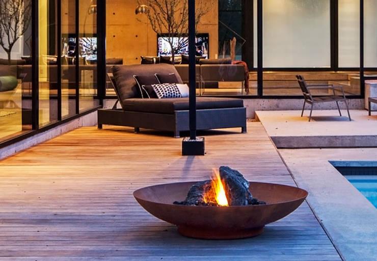 Brasero en acier Corten: Jardin de style de style Moderne par SO GARDEN
