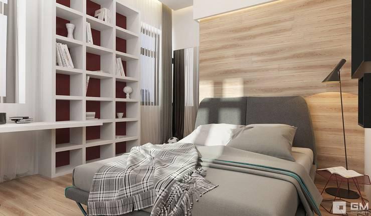 Эксклюзивный дизайн-проект дома в стиле эклектика: Спальни в . Автор – GM-interior,