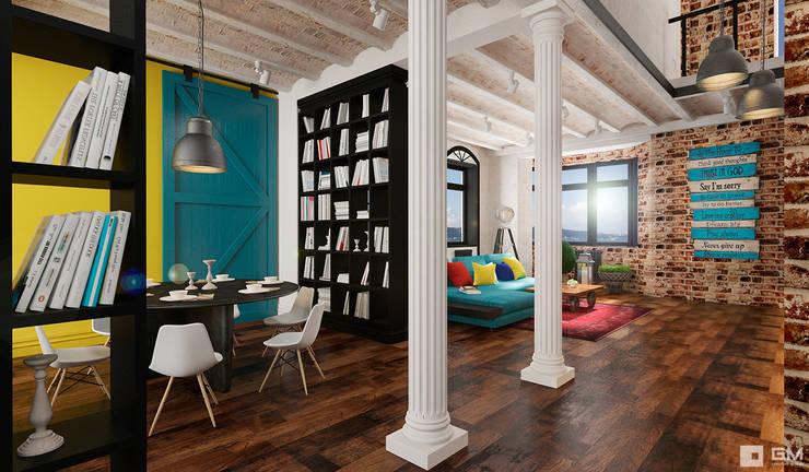 Эксклюзивный дизайн-проект дома в стиле эклектика: Столовые комнаты в . Автор – GM-interior,