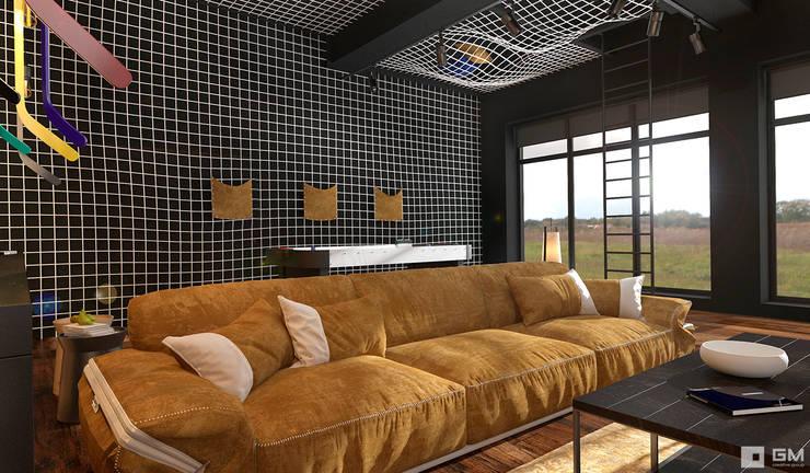 Эксклюзивный дизайн-проект дома в стиле эклектика: Гостиная в . Автор – GM-interior,