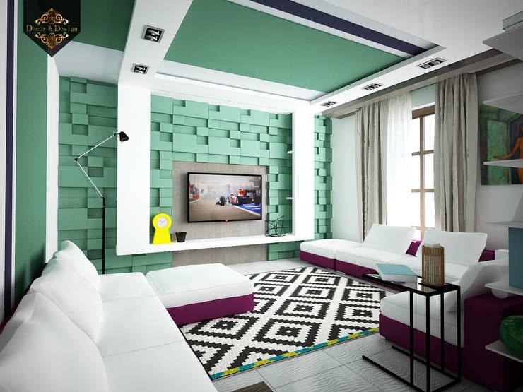 Salones de estilo ecléctico de Decor&Design