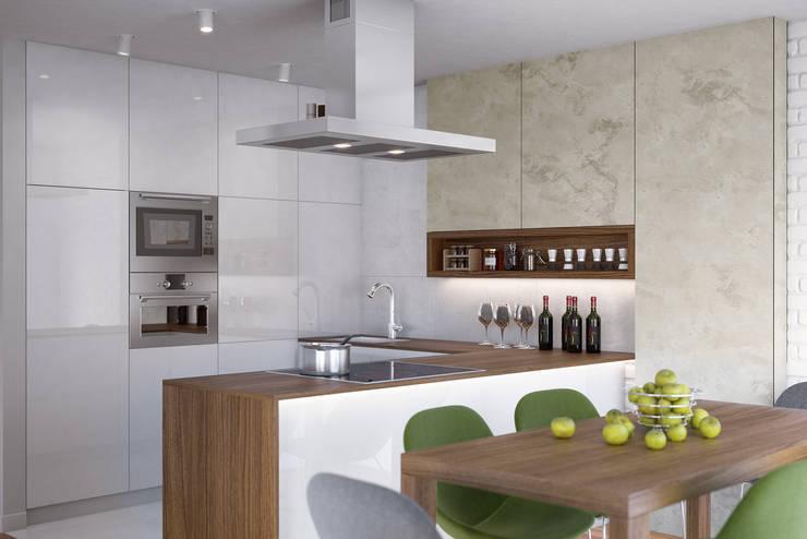 Cocinas de estilo  por Kunkiewicz Architekci