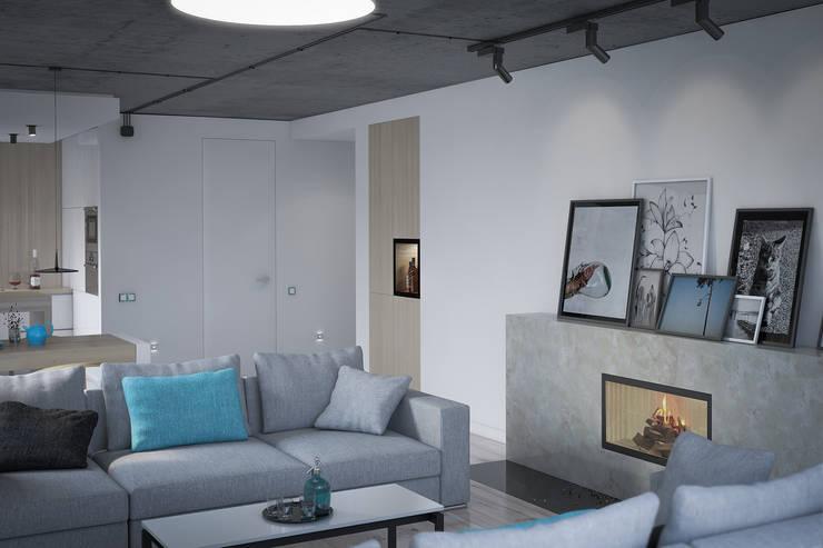 Living room by Kunkiewicz Architekci