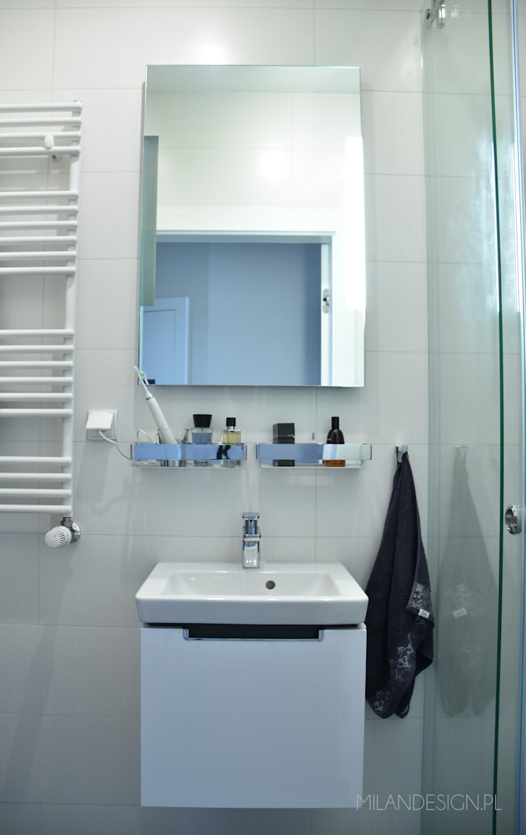 Łazienka nowoczesna: styl , w kategorii Łazienka zaprojektowany przez Milan design